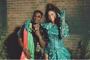 Beyonce with Shatta Wale