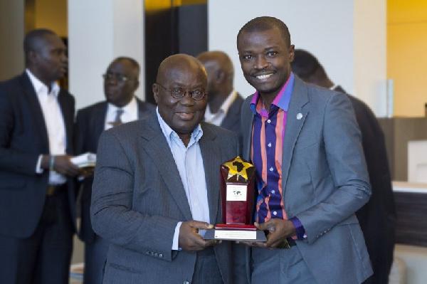 Nana Akuffo Addo with Jefferson Sackey
