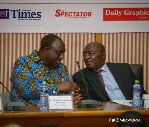 Vice-President Dr Mahamudu Bawumia with Trade Minister Alan Kyerematen
