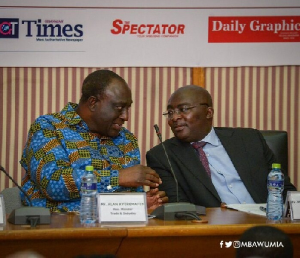 Vice President Dr Mahamudu Bawumia with Alan Kyerematen
