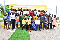 A group picture of MTN bright scholarship beneficiaries from southern sector