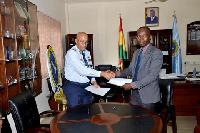Commandant of the Centre Air Vice Marshal Griffiths Santrofi Evans Albert Antwi-Boasiako