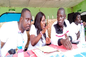 Catherine Abelema Afeku in the company of some NPP regional leaders