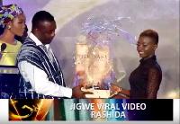 Rashida Black Beauty receiving her award.