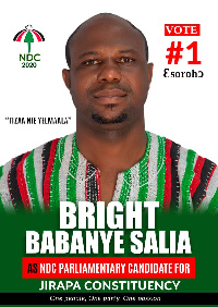 Bright Babanye Salia is seeking to represent the people of Jirapa in Parliament