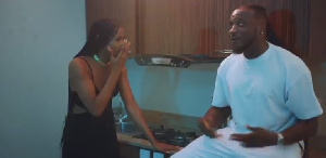 A scene from the colourful video