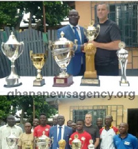 Right to Dream Football Academy officials presented their trophies to ERFA