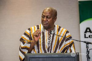 John Mahama Speaking Mic