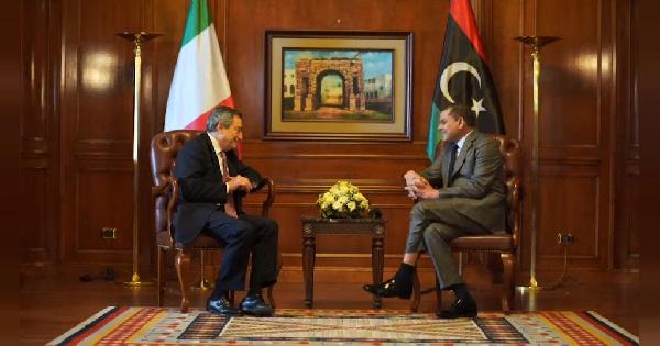 Mario Draghi and Abdul Hamid Dbeibah