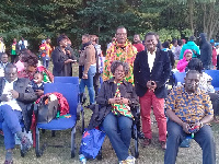 Some Ghanaians living in France at the family fun day 2018