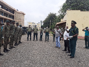 Some officials of GIS in the Volta Region
