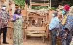 Tangoba Abayage presents dual desks to Kassena-Nankana Municipal Education Directorate