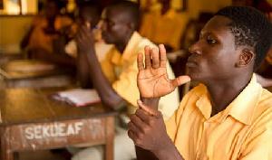 School of deaf studends in class