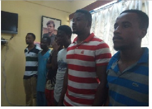 The six were arrested for terrorizing residents in the New Juaben Municipality