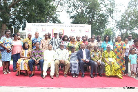 Ministers and other dignitaries in a group photo after the launch