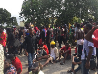 KNUST students went on a demonstration yesterday over students brutality