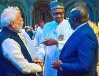 Dr Mahamudu Bawumia, President Muhamadu Buhari of Nigeria and Indian's Narendra Damodardas Modi