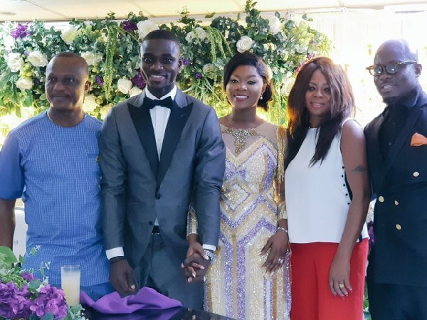 The newly wed mobbed by Black Stars Coach and Stephen Appiah, other
