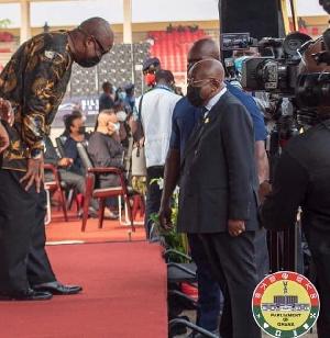President Nana Akufo-Addo and his predecessor John Dramani Mahama