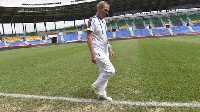 Ivory Coast coach Michel Dussuyer was unhappy when he inspected the pitch at Stade d'Oyem