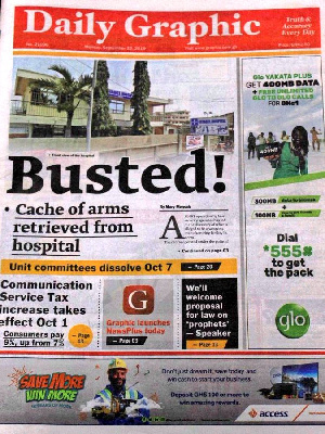 FrontPage headlines all captured in the 'papers'