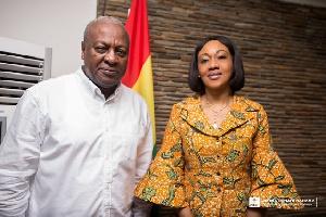 Former President Mahama and EC boss Jean Mensa