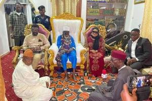 Nana Agradaa's visit to the National Chief Imam, Sheikh Osman Nuhu Sharubutu