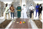 Members of the public present at the Mausoleum to mark the Nkrumah Memorial Day