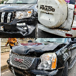 Presidential candidate, Asiedu Walker's convoy involved in an accident