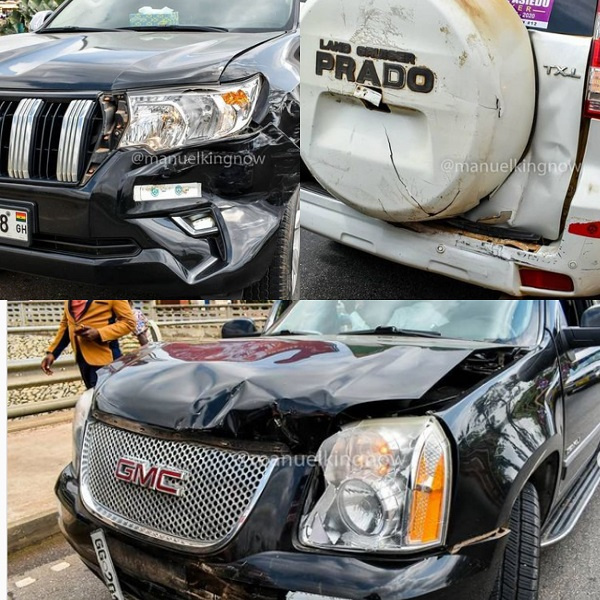 The accident occurred in Kumasi during their campaign tour