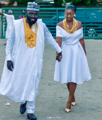 Kofi Asamoah and Salma Mumin