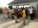 Presentation of items by Paul Apraku Twum Barimah