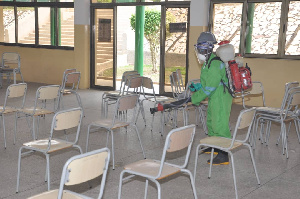 The three day exercise is aimed at protecting students and staff from the virus
