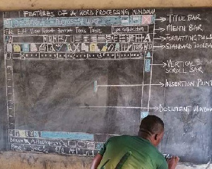 Owura Kojo posted the pictures of his class during an ICT lesson on his Facebook page