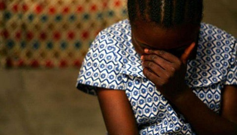 The victim reportedly attempted suicide (file photo of a sexually abused girl)
