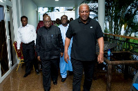 President John Dramani Mahama with other presidential candidates
