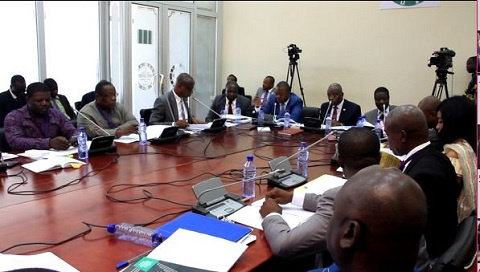 A file photo of members the Public Accounts Committee