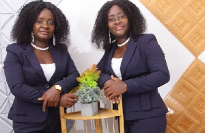 Faustina Owusua has formed a music group with her twin sister called 'Precious twins'
