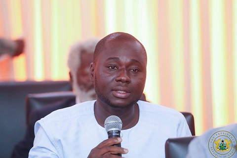 Atik Mohammed at the Flagstaff House when the President met with various political leaders
