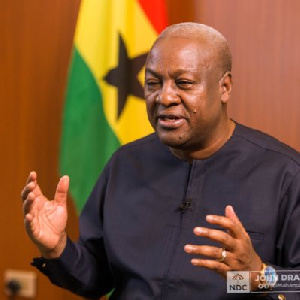 John Dramani Mahama, flagbearer of National Democratic Congress in the 2020 election