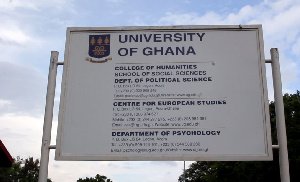 Political Science department sign post