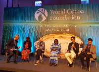 Isaac Donkor and Lucy Addai-Poku joined the delegation at the World Cocoa Foundation Meeting