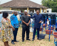 The items were received by Central Regional Minister, Kwamena Duncan