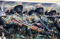 File photo of military officers in Ghana