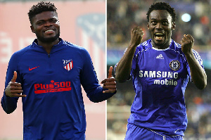 Thomas Partey and Michael Essien