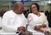 Former President John Mahama and 1st Lady Lordina Mahama