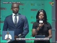 The debate is being moderated by Dan Afari Yeboah and Selikem Acolatse Apaloo