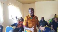 Presiding Member of the Nkoranza Municipal Assembly, Kwame Adu Gyamfi