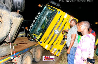 The accident happened at Amanfro junction in the Ga South Municipality