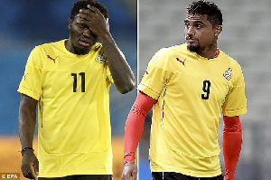 Kevin Prince Boateng and Sulley Muntari are suspended from the Black Stars